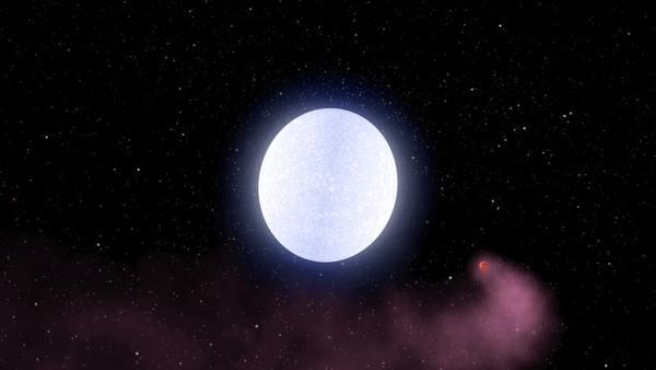 تصور فني يُظهر الكوكب كيلت-9 بي أثناء دورانه حول نجمه المضيف، كيلت-9 هو أشد الكواكب الغازية العملاقة المكتشفة حتى الآن سخونة.