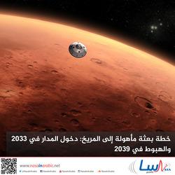 خطة بعثة مأهولة إلى المريخ: دخول المدار في 2033 والهبوط في 2039