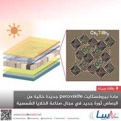 مادة بيروفسكايت perovskite جديدة خالية من الرصاص ثورة جديد في مجال صناعة الخلايا الشمسية