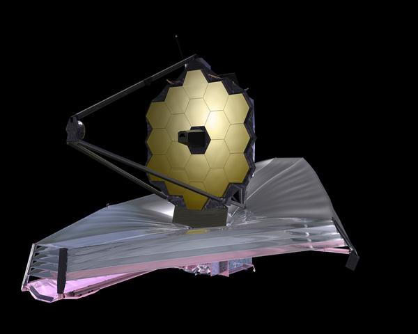 تصور فني لتلسكوب جيمس ويب الفضائي.