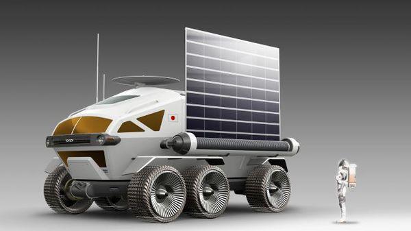 صورة تخيلية تظهر شكل المركبة المخطط له، الصورة بواسطة JAXA\Toyota