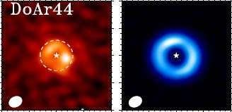 الأقراص الانتقالية هي أقراص من الغاز والغبار تدور حول النجوم الشابة وتحتوي على فجوات ناجمة عن تفاعلها مع الكواكب المتشكلة ضمنها.