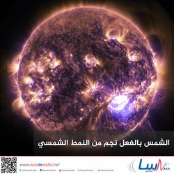 الشمس بالفعل نجم من النمط الشمسي
