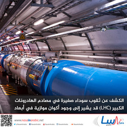 الكشف عن ثقوب سوداء صغيرة في مصادم الهادرونات الكبير (LHC) قد يشير إلى وجود أكوان موازية في أبعاد أخرى