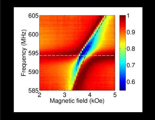 الاقتران القوي بين الأمواج الميكروية والنوى الذرية.