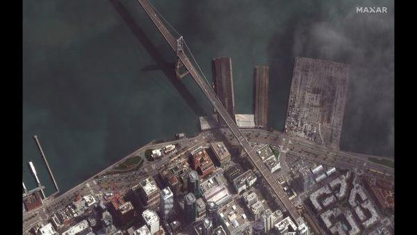"""جسر البوابة الذهبية أو """"جسر غولدن غيت"""" في مدينة سان فرانسيسكو، في 16 مارس/آذار 2020."""