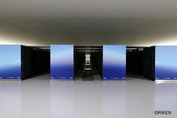 الحاسوب الفائق فوجاكو. حقوق الصورة:Riken