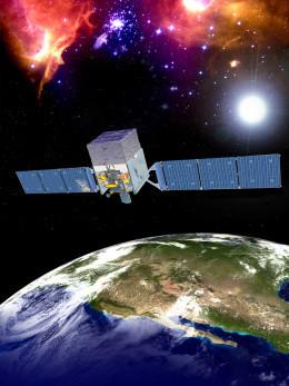 توضيحٌ فنيٌّ لتلسكوب فيرمي الفضائي لأشعة غاما
