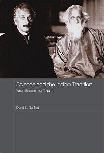 غلاف كتاب العلم والتقاليد الهندية: عندما قابل أينشتاين طاغور