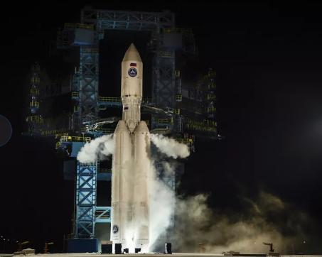 انطلق صاروخ أجارا إيه 5 في ثاني رحلةٍ تجريبية له من قاعدة بليسيتسك الفضائية في شمال روسيا في 13 ديسمبر 2020. حقوق الصورة: وزارة الدفاع الروسية.