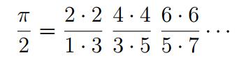 صيغة وليس الكلاسيكية في القرن الثامن عشر لتحديد باي. المصدر: University of Rochester.