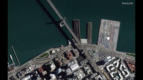 """جسر البوابة الذهبية أو """"جسر غولدن غيت"""" في مدينة سان فرانسيسكو، في 3 مارس/آذار 2020."""