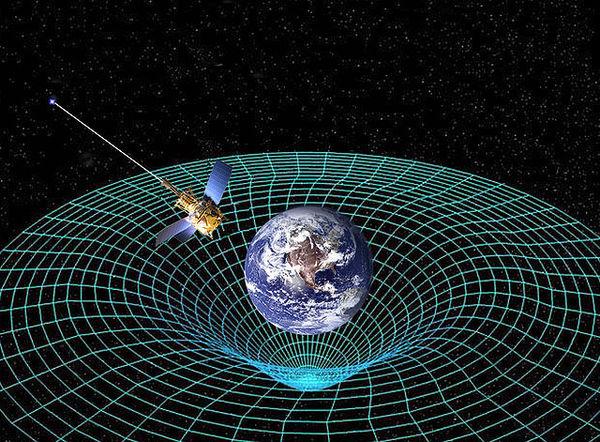 تصور فني لمجس الجاذبية B الذي يدور حول الأرض ويقيس الوصف رباعي الأبعاد للكون. حقوق الصورة ناسا