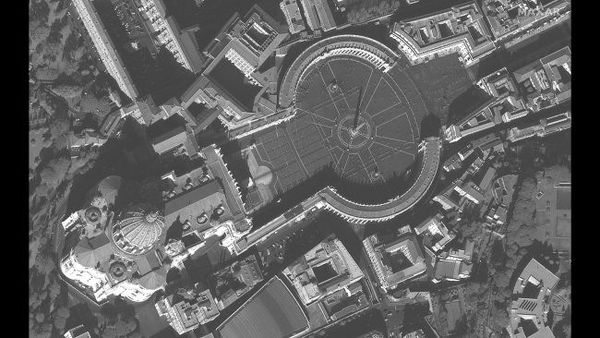 ميدان القديس بطرس في روما، في 21 فبراير/شباط 2020.