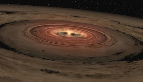 طبعة فنية لقرص التنامي. حقوق الصورة: NASA/JPL-Caltech