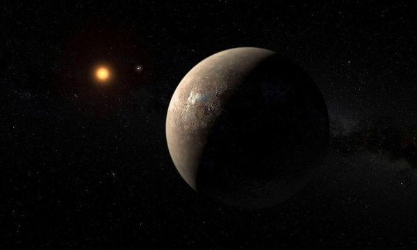 رسم تخيلي يظهر كيف يمكن أن يبدو بروكسيما بي، وهو كوكب يدور حول النجم الأقرب إلى شمسنا.   مصدر الصورة : ESO.