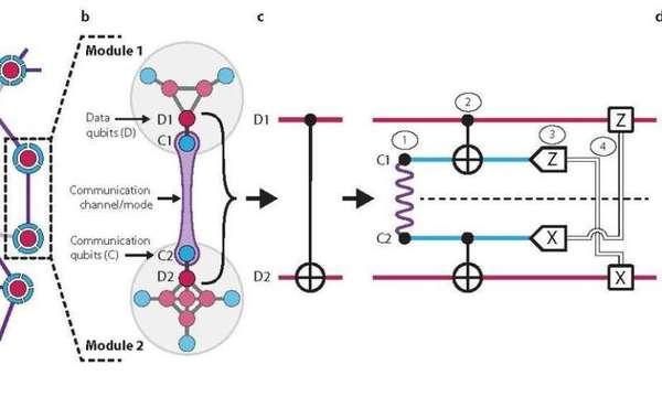 نظرة عامة للشبكة المعمارية الكمومية الجزيئية المثبتة في الدراسة الجديدة.  حقوق الصورة: Yale University