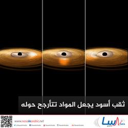 ثقب أسود يجعل المواد تتأرجح حوله