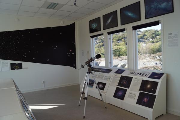 قسم المجرّات في المعرض.