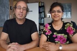 كينيث كوسيك Kenneth Kosik و نيها راني Neha Rani (حقوق الصورة: سونيا فيرنانديز Sonia Fernandez)