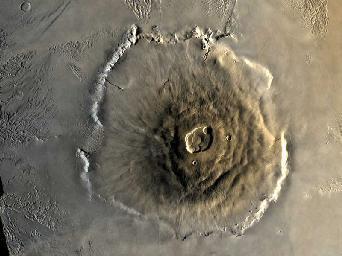 جبل أوليمبوس. الحقوق: NASA