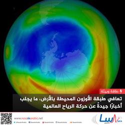 تعافي طبقة الأوزون المحيطة بالأرض، ما يجلب أخبارًا جيدةً عن حركة الرياح العالمية