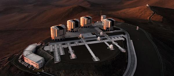 مرصد بارانال التابع للمرصد الأوروبي الجنوبي ESO، الموجود في صحراء أتاكاما في تشيلي. حقوق الصورة: ESO