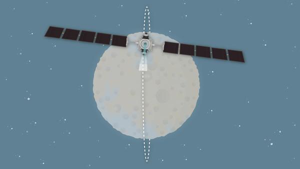 تدور مركبة داون الفضائية حول سيريس