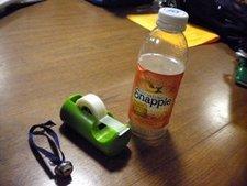 زجاجة عصير فارغة.
