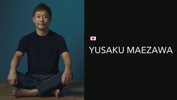 سترسل سبيس إكس رائد الأعمال الياباني يوساكو مايزاوا على متن أول رحلة فضائية خاصة تقل مسافرين حول القمر على متن صاروخ فالكون كبير مقابل سعر لم يفصح عنه، وسيصطحب مايزاوا ثمانية فنانين معه. حقوق الصورة: SpaceX