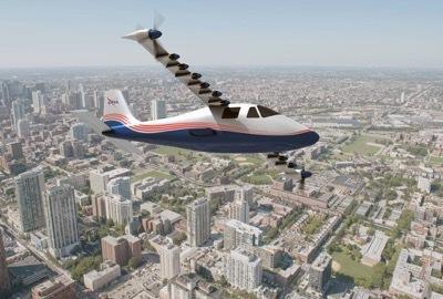 نظام البطارية الذي يشغّل جميع الطائرات الكهربائية من طراز ماكسويل X-57 الجديدة التابعة لناسا، يعمل على زيادة وزن الطائرة بمقدار الثلث. قد يُقلّل استخدام مواد M-SHELLS في بناء الطائرات في المستقبل من ذلك الوزن الزائد بشكلٍ ملحوظ.  حقوق الصورة: ناسا