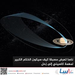 ناسا تعرض مسبقا كيف سيكون الختام الكبير لمهمة كاسيني إلى زحل