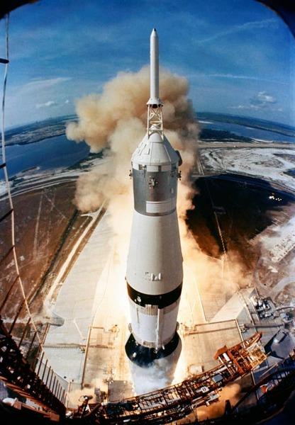 انطلاق مهمة أبولو 11. حقوق الصورة: ناسا