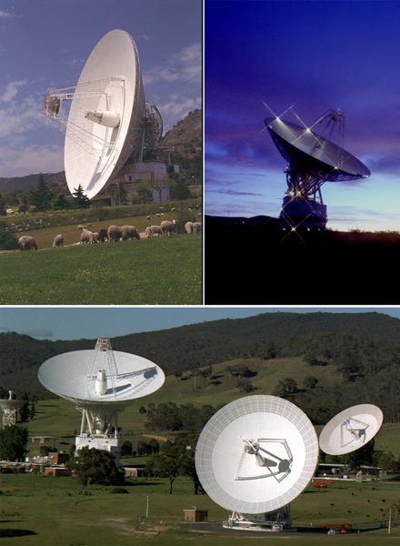 تجري جميع الاتصالات بمختلف أنواعها مع مركبة نيوهورايزنز، من نقل الأوامر إلى المركبة، إلى تحميل البيانات العلمية الآتية من اللقاء التاريخي مع بلوتو، عبر محطات الهوائي الموجودة في شبكة الفضاء العميق التابعة لوكالة ناسا (في اتجاه عقارب الساعة، أعلى اليسار) في كل من مدريد في إسبانيا، وغولدستون في كاليفورنيا، وكانبرا في أستراليا.  وعلى الرغم من أنها تتحرك بسرعة الضوء، إلا أن الإشارات الراديوية المرسلة من مركبة نيوهورايزنز، والتي تحمل البيانات ستحتاج إلى أكثر من 4 ساعات ونصف الساعة حتى تعبر مسافة 3 مليارات ميل كي تصل إلى الأرض. المصدر: ناسا