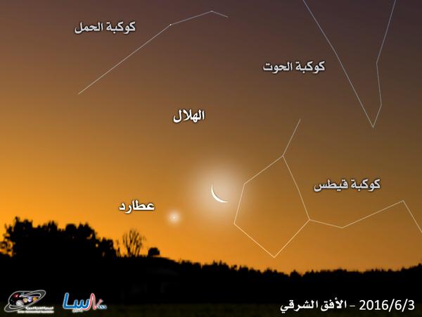 ولادة الهلال الجديد لشهر رمضان في كوكبة الثور
