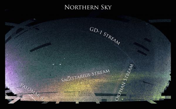 نصف الكرة الشمالي من السماء، كما شُوهد في مسح سلون الرقمي للسماء. (Credit: Ana Bonaca)