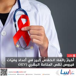 أخبارٌ رائعة: انخفاضٌ كبير في أعداد وفيّات فيروس نقص المناعة البشري (HIV).