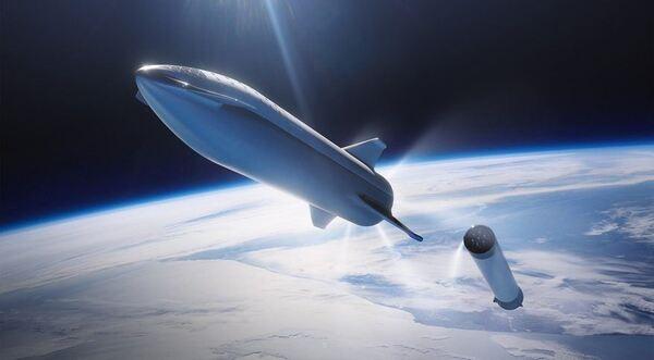 سوبرهيفي وستارشيب حقوق الصورة:SpaceX