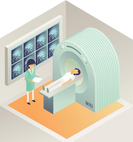 جهاز الرنين المغناطيسي (MRI).