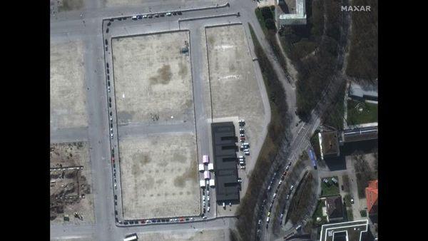 لقطة عن قرب لمرفق اختبار الفيروس التاجي في ميونخ.