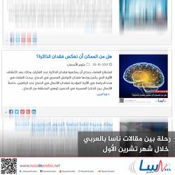 رحلة بين مقالات ناسا بالعربي خلال شهر تشرين الأول