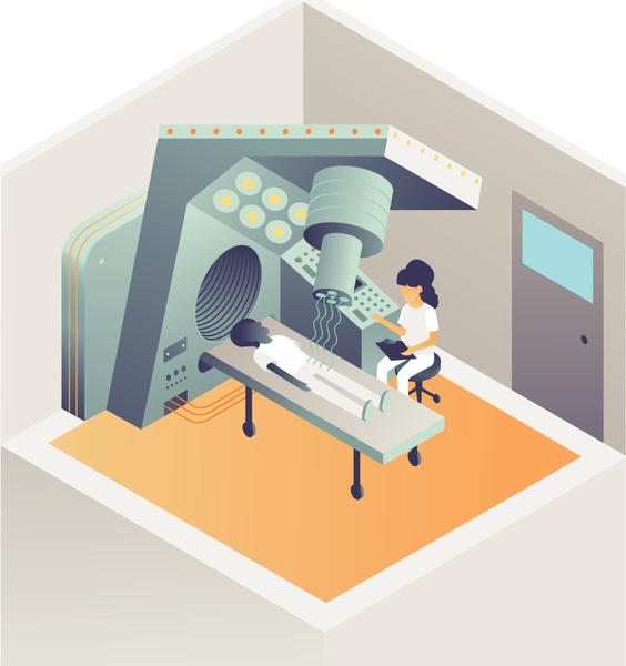 استخدام معجلات الجسيمات لتشخيص و مكافحة مرض السرطان.