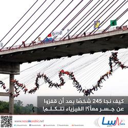كيف نجا 245 شخصًا بعد أن قفزوا عن جسر معًا؟! الفيزياء تتكلم!