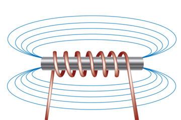 هكذا تبدو خطوط الحقل المغناطيسي في مغناطيس كهربائي بسيط حقوق الصورة: Hemera/Thinkstock