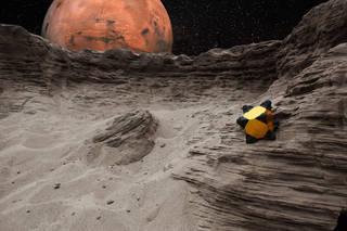 يستطيع روبوت القنفذ العمل بغض النظر عن الجهة التي يحط عليها، وذلك على عكس عربات استكشاف المريخ التي لا تستطيع العمل رأسًا على عقب. المصدر: NASA/JPL-Caltech/Stanford