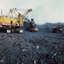 مكان مفتوح لتجميع فحم المناجم