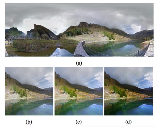 الذكاء الاصطناعي يُحرّر الصور بواسطة القص، وضبط التشبُّع اللّوني، وتطبيق القناع. حقوق الصورة: فريق بحث غوغل.
