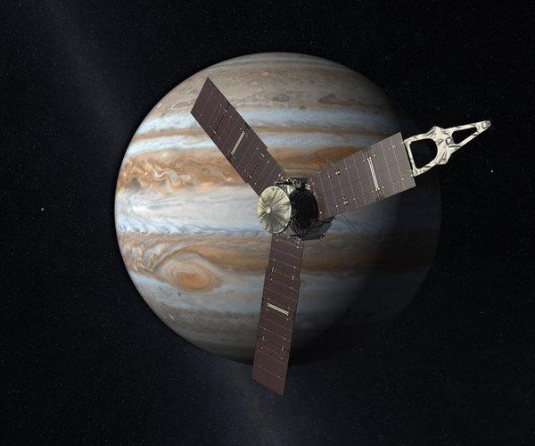ﺭﺳﻢ ﺗﺨﻴﻠﻲ ﻟﻠﻤﺮﻛﺒﺔ ﺟﻮﻧﻮ ﺗﺪﻭﺭ ﺣﻮﻝ ﺍﻟﻤﺸﺘﺮﻱ حقوق الصورة: NASA
