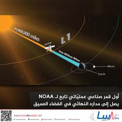 أول قمر صناعي عمليّاتي تابع للإدارة الوطنية للمحيطات والغلاف الجوي NOAA يصل إلى مداره النهائي في الفضاء العميق