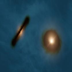 ALMA يكتشف نجم ثنائي مع أقراص تشكل كوكبي واسعة وغريبة